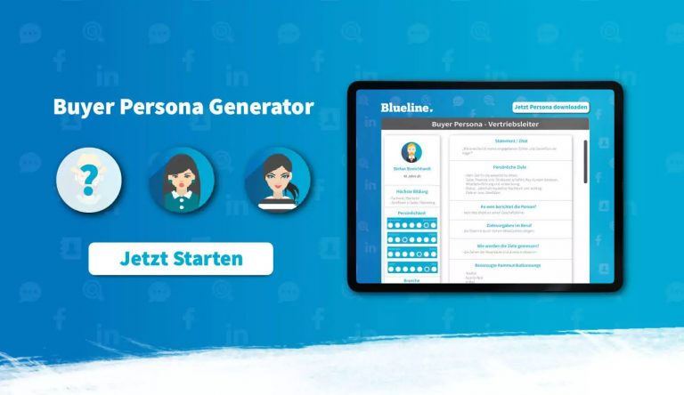 buyer persona generator blog blueline
